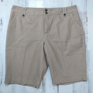 """🌿 Cato Size 14 Khaki Shorts 11"""" Inseam"""